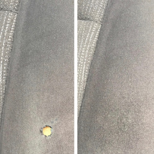 cigarette burn upholstery removal before and after lexington, sc